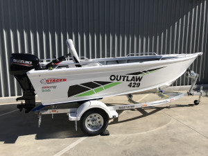Stacer 429 Outlaw Tiller Steer Suzuki DF40 2021 Model