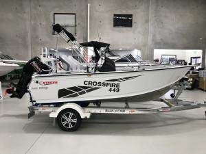 Stacer 449 Crossfire Side Console Suzuki DF70 2022 Model
