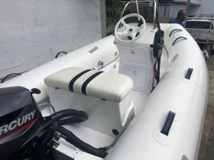 Brand new Mercury 350 Ocean Runner side console hypalon RIB fitted with a Mercury 20hp EFI 4 stroke!