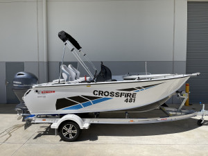 Stacer 481 Crossfire Side Console Yamaha F75 2022 Model