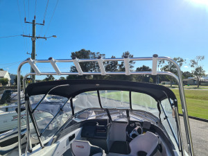 589 Baymaster Stacer runabout, 150hp Mercury 4 stroke and trailer
