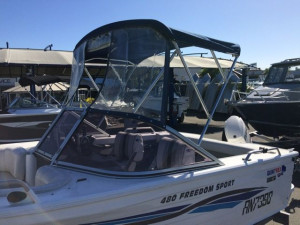 SALE USED 2006 QUINTREX 480 FREEDOM SPORT WITH 2016 EVINRUDE 75HP OUTBOARD FOR SALE