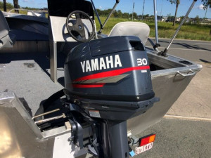 USED 2009 STESSCO SF420 SIDE CONSOLE WITH 30HP ELECTRIC START YAMAHA FOR SALE