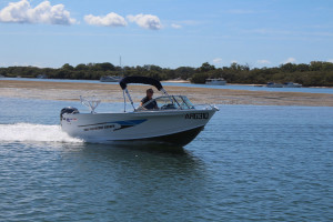 Quintrex 500 Fishabout  Comfort Pack fitted with a F90HP EFI 4 stroke