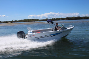 Quintrex 500 Fishabout Pack 1  fitted with a F 75 EFI 4 stroke Pack 4