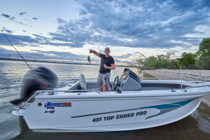 Quintrex 540 Top Ender FISHING PACK powered by the Yamaha F115
