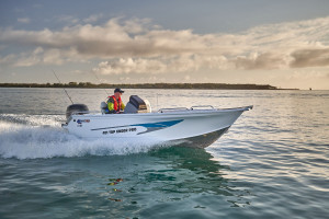 Quintrex 590 Top Ender  Our pack 2 powered by a Yamaha F130