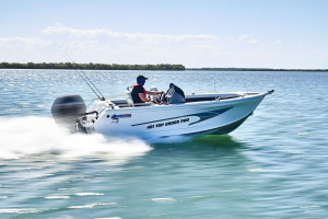 Quintrex 590 Top Ender  Our pack 1 powered by a Yamaha F130