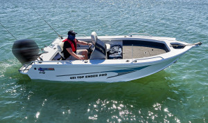 Quintrex 590 Top Ender (2021)Top ender Fishing pack powered by a Yamaha F130