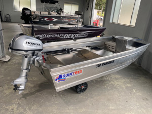 USED 2021 3.2 QUINTREX WANDERER WITH 2021 4HP HONDA 4-STROKE