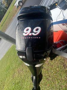 Used 3.85 Bermuda V-nose punt with 2006 9.9Hp Mercury 4-stroke
