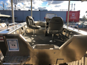 Brand new Horizon 450 Easyfisher Pro Side console aluminium boat in stock! Available as hull only, hull and trtailer or full BMT package with a new Mercury outboard motor.