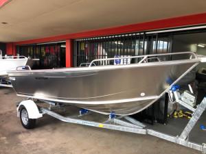 Brand new Horizon 435 Easyfisher open tiller steer deep V aluminium boat