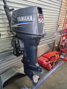 50hp Yamaha 2 stroke 2013 tiller steer