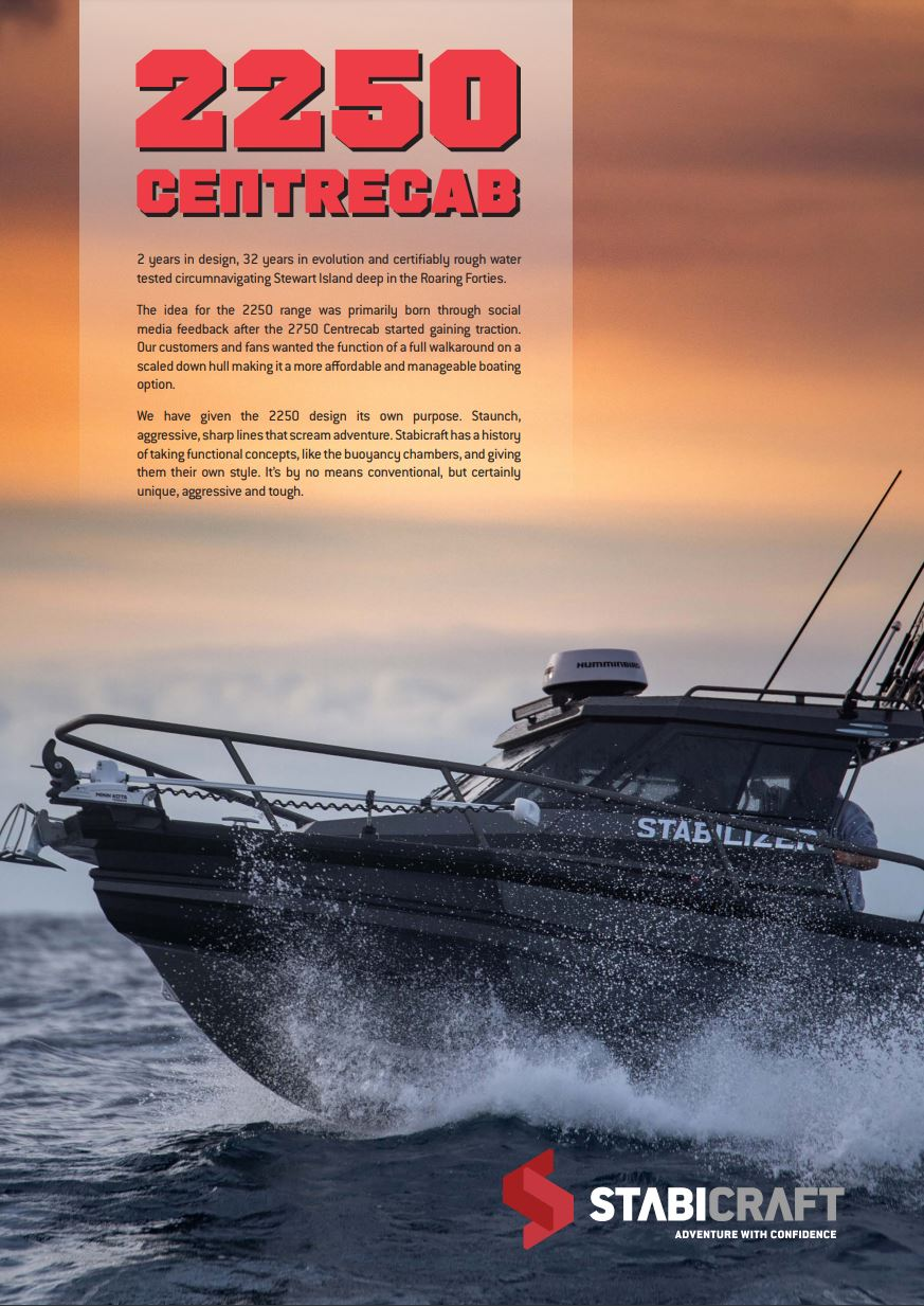 Stabicraft 2250 Centre Cab - Boat Brochure Page 1