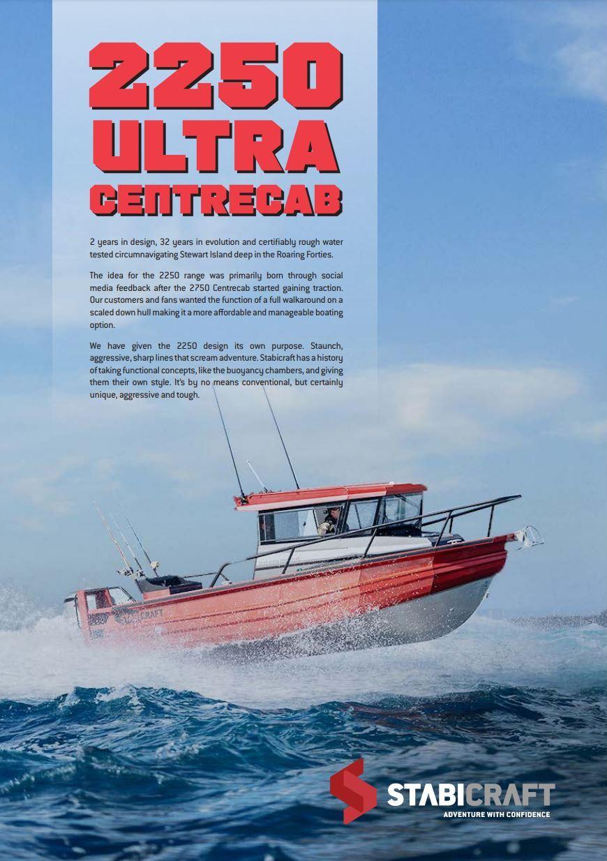 Stabicraft Ultra Centre Cab 2250 UCC Perth Western Australia Hitech Marine Brochure Page 1