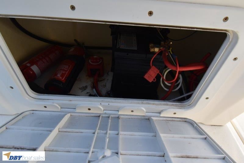 Centre Console 4.8m runabout on galvanised trailer