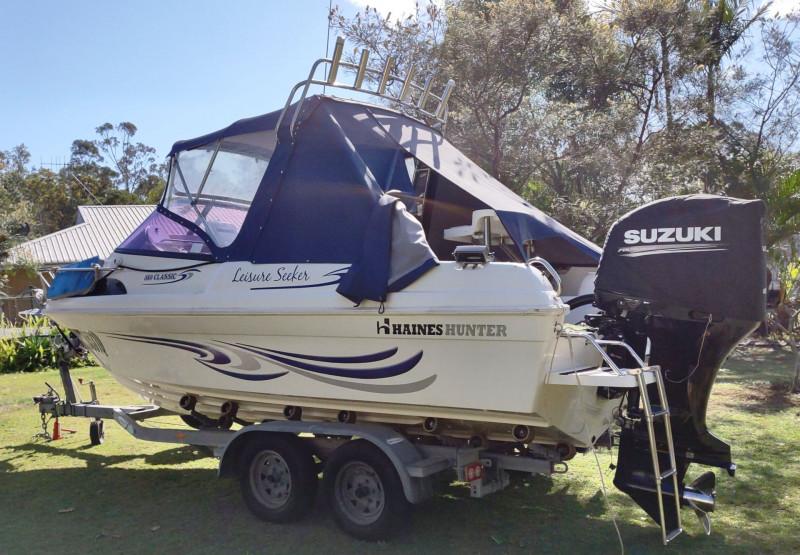 Haines Hunter Power Boat & Trailer