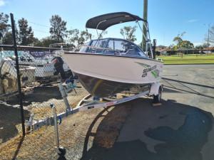 429 Seamaster Stacer, alloy trailer & 60hp Mercury four stroke
