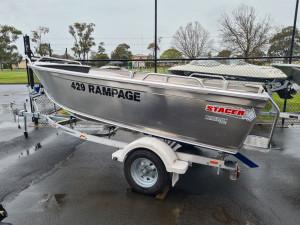 429 Rampage Stacer, alloy trailer & 40hp Mercury 4 stroke