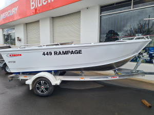 449 Rampage Stacer, alloy trailer and 60hp Mercury four stroke