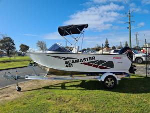 481 Seamaster Stacer, 60hp Mercury fourstroke & alloy trailer